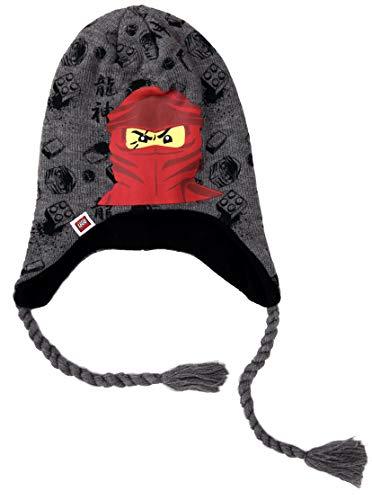 Coole-Fun-T-Shirts kindermuts Ninja grijs 52 cm originele wintermuts voor jongens en meisjes muts kleuterschool school