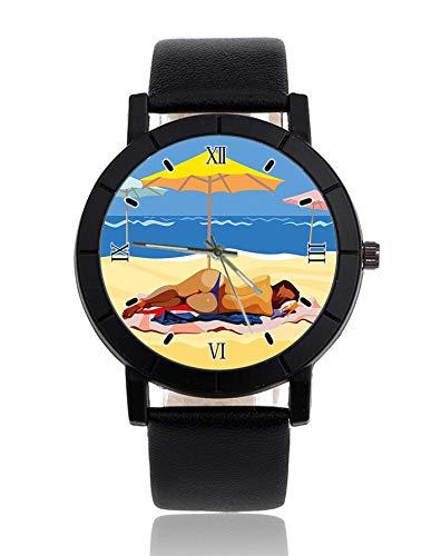 Damen im Bikini Armbanduhr Lederarmband Armbanduhr Casual Uhren für Herren