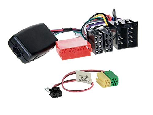 Adattatore per telecomando da volante con interfaccia LFB compatibile con autoradio Blaupunkt Mini ISO, adatto per Nissan Micra III K12 2003-2007