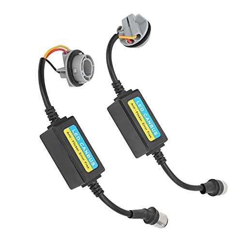 Decodificador LED, práctica resistencia antiparpadeo 12-24 V Fácil profesional conveniente para bombillas 1157 BAY15D, P21 / 5W para convertir lámparas halógenas en LED