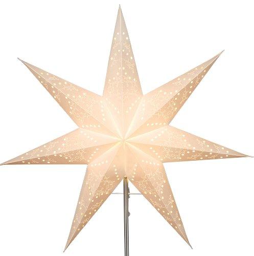Best Season, Stella luminosa in carta di ricambio'Sensy Star 54', incl. Supporto, Bianco (cream), ø 54 cm