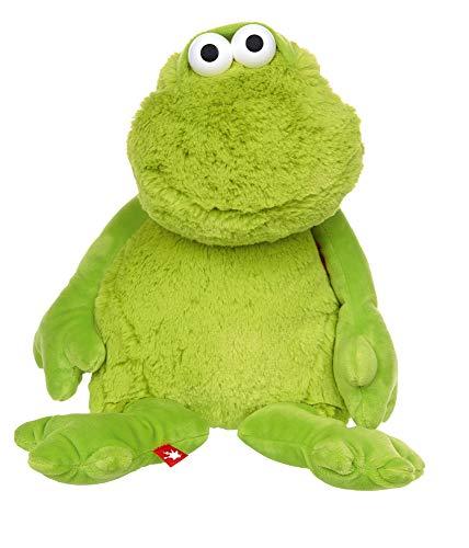 Sigikid Mädchen und Jungen, Frosch Sweety mit Verstellbarer Mimik, empfohlen ab 12 Monaten, grün, 42458 Kuscheltier
