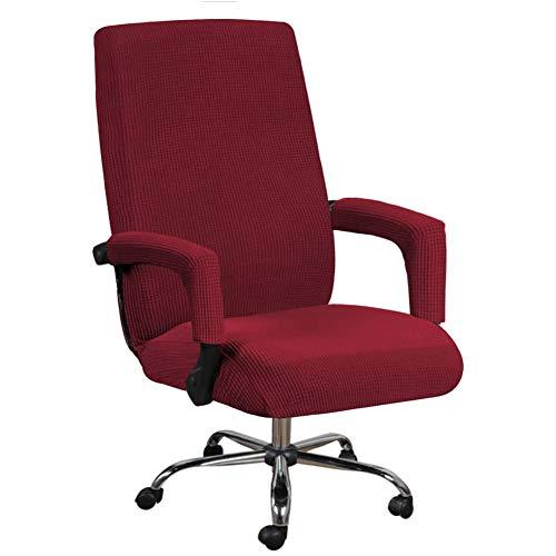 DELITLS Fundas elásticas para sillas de oficina, poliéster para silla de ordenador, universal, fundas de silla de oficina, fundas de silla de oficina, desmontables con funda para reposabrazos