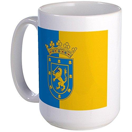 CafePress - Große Tasse mit Santiago-Flagge – Kaffeetasse, groß 425 ml, weiße Kaffeetasse
