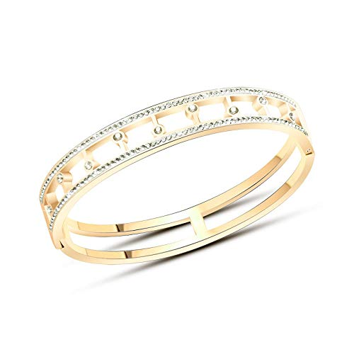Armband Armbanden Link Armbanden Multi-Boren Ster Gesp Titanium Staal Armband
