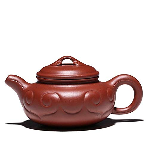 YF-SURINA Juego de té Zisha Pot Famoso Boutique hecho a mano Orion Purple Sand Ruyi Tetera antigua Kung Fu Juego de té,Big Red Pouch