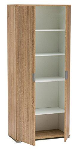 Legno&Design Armoire à 2 portes blanc, noyer, chêne gris et autres couleurs