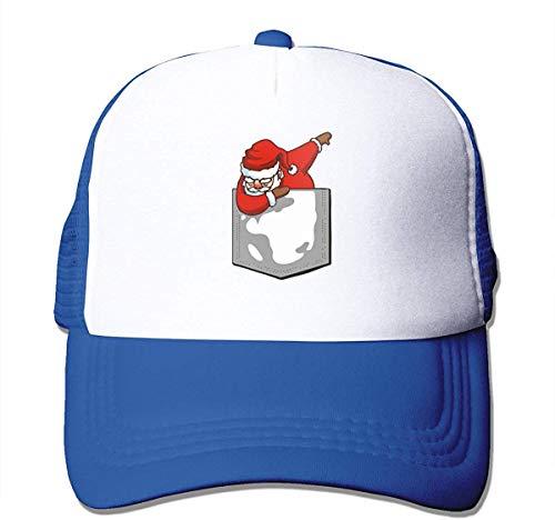 Pocket T-Shirt Dabbing Santa Christmas Adjustable Mesh Trucker Baseball Cap Men Or Women Hip Hop Hat Comfortable5458