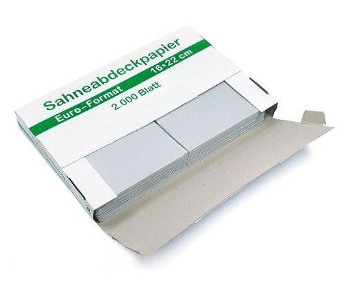 Sahneabdeckpapier Wachspapier Euro-Format 16x22 cm, 10 Spender á 2.000 Bl.