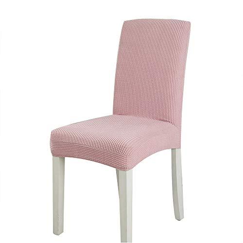 6 fundas elásticas de forro polar para silla de hotel, restaurante, banquete, para el hogar, antideslizante, resistente a la suciedad, color sólido