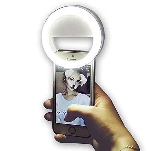 STAND 3.35inch Selfie Ring Light Video Clip en el teléfono móvil Circle Ring Flash Lens Beauty Fill Light Lamp para Smartphone tiktok Portable 1pc