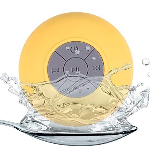 Waterdichte luidspreker met Bluetooth-functie en microfoon, zuignap voor alle soorten muren, om te telefoneren of naar muziek te luisteren, bijvoorbeeld onder de douche.