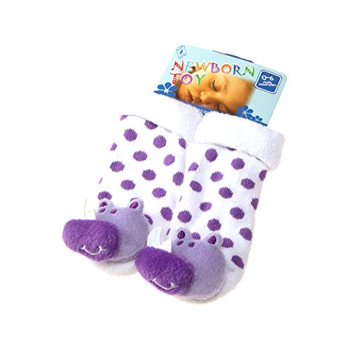 InterSocks enkellaarzen – 1 paar – aan de achterkant – met knopen – katoen – Newborn Toy