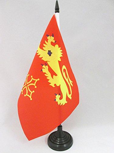 AZ FLAG Bandera de Mesa de Tarn Y GARONA 21x14cm - BANDERINA de DESPACHO Departamento DE Tarn Y GARONA - Francia 14 x 21 cm