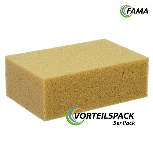 FAMA Schwamm | Vorteilspack 5 Stk. | 20 x 13 x 7 cm | Polyurethan-Allzweckschwamm