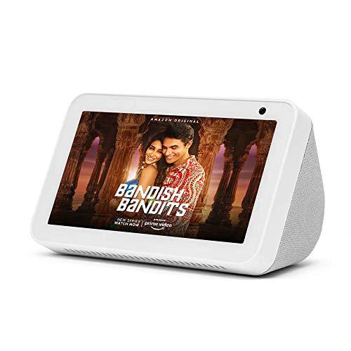"Introducing Echo Show 5 - Smart display with Alexa - 5.5"" screen & crisp sound (White)"