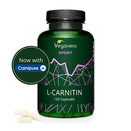 L - CARNITINA (CarniPure®) 1000 mg Vegavero® Sport   120 capsule   L'UNICA SENZA ADDITIVI   Vegan