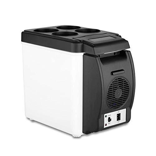 BININBOX Car Refrigerator 12V Travel Portable Electric Cooler Warmer for Car Truck SUV RV Trailer 6L/7.5L Capacity,for Fishing Cycling (Black(Capacity 6L))