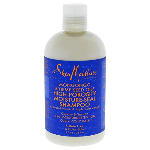 Shea Moisture Mongongo & Hemp Seed Oils High Porosity Moisture-seal Shampoo, 13 Ounce