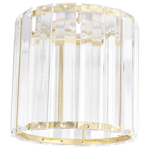 SOLUSTRE Pantalla de Cristal Dorado Lámpara de Lujo Sombra de Luz de Techo Cubierta de Luz Colgante Accesorio de Luz para Pasillo Cocina Dormitorio Sala de Estar Baño
