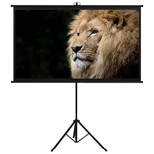 vidaXL Schermo di Proiezione Telo di Proiezione Telone per Film e Diapositive Accessori per Proiettori Display con Treppiedi 72' 16:9