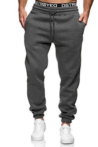 MERISH - Pantaloni da jogging da uomo in cotone, slim fit 211 277c Anthrazit M