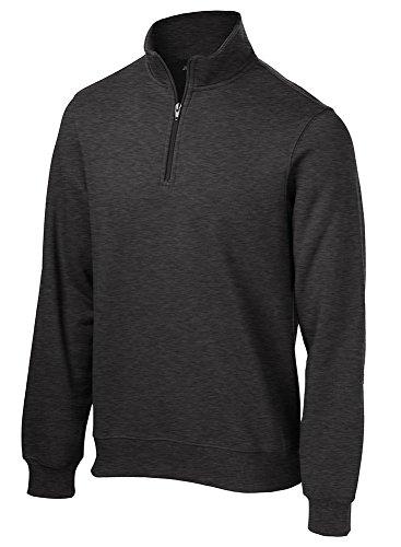 Joe's USA Men's Tall 1/4-Zip Sweatshirt-Tall-LT-GraphiteHeather