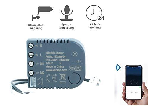 WiFi Modul für Rolladen/Jalousie/Markisen Schalter eModul-Shutter Sprachsteuerung Stromüberwachung