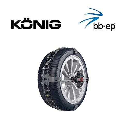 Chaînes à neige Thule K-Summit XXL pour les pneus 285/35 R22 - Chaînes à neige exclusives et faciles à monter pour SUV de plus de 2000 kg de poids à vide