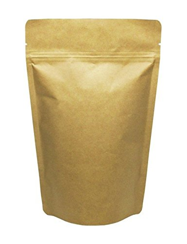 Best Price BAP 2 oz Kraft Stand Up Pouch with Zip and Tear Notch (1000 pcs)