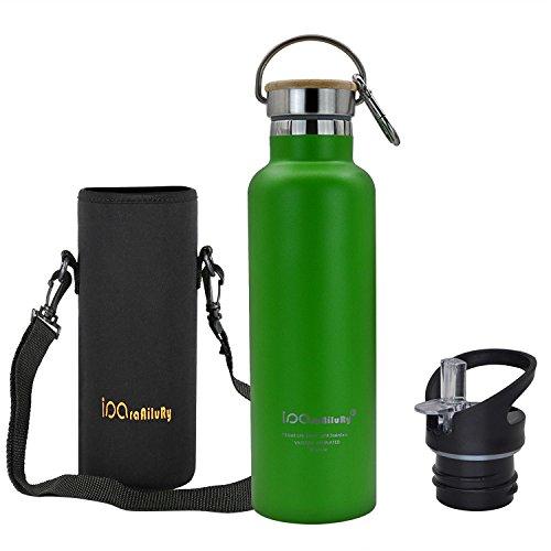 iParaAiluRy Vacuum isolé Thermo Bouteille d'eau - Bouteille Isotherme en Acier Inoxydable à Double Paroi 500/600/750/1000ML - Bouteille De Boisson pour Sport Camping Randonnée Water Bottle