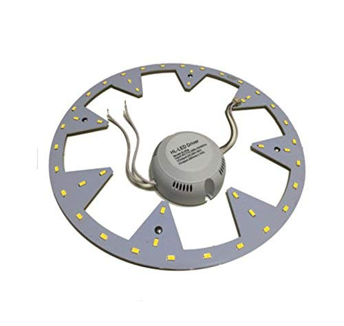 takestop® CIRCOLINA kroonluchter LED 22 W plafondlamp Disco Neon Ring
