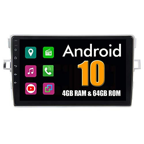 Car Stereo 9'Android System Car GPS Player para Toyota Verso 2007-2016 con Autoradio Navigation Stereo Bluetooth Mirror Link Pantalla táctil Completa (sin Canbus)