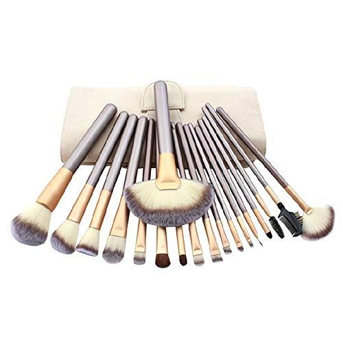 Jeu de pinceaux de maquillage 12 18 18 Ensemble complet d'outils de beauté, 18 mètres de sac de pinceau blanc