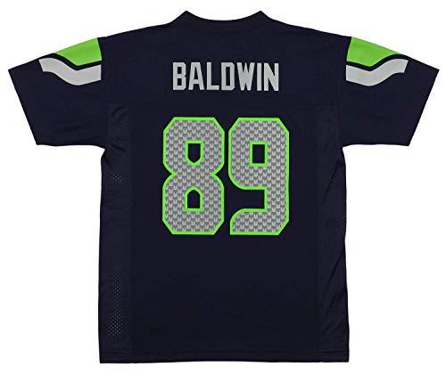 Doug Baldwin Seattle Seahawks #89 Navy Blue Youth Home Mid Tier Jersey (Large 14/16)
