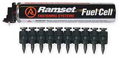 Ramset Powder Fastening Systems FPP012 1/2-Inch Steel Pins with Single Fuel Cell1000 Pack