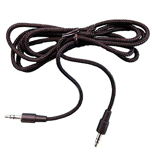 VM Audio 3.5mm Auxiliary Sound Stereo 5-Foot Tablet Smartphone Car Cable, Black