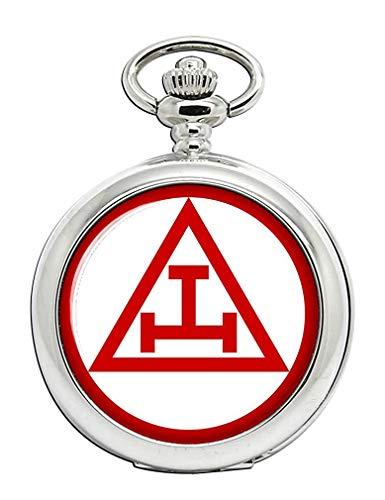 Arco Real Albañilería Triple Tau Reloj Bolsillo Hunter Completo