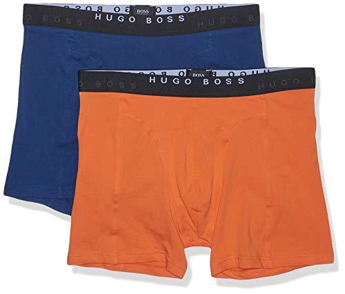Hugo Boss Paquete de 2 Calzoncillos Calzones elásticos de algodón para Hombre, Dark Orange, Large