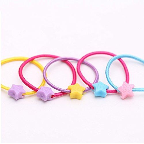Xin Yu Yue Firm Haarbanden Koreaanse kinderen cartoon Rubber Band snoep kleur plastic gesp Haar cirkel-100 Stuks