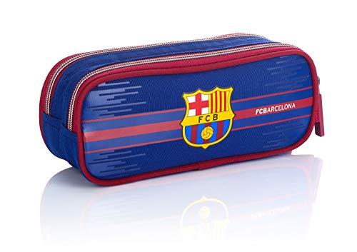 FC Barcelona Bag FC-227 Fan 7 - Estuche para lápices, 22 cm, Color Azul Marino