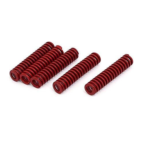 sourcingmap Druckfeder 5Stk 8mm OD 35mm Länge mittler Belastung Komprimierung Form Rot