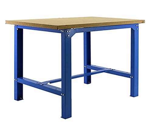 Banco de trabajo industrial BT6 Simonwork Plywood Azul/Madera Simonrack 865x1800x750 mms - banco de trabajo resistente 800...