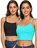 Tank Tops for Women Basic Camisole with Shelf Bra Adjustable Strap Layering Undershirt