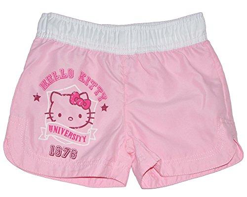 alles-meine.de GmbH Badehose / Badeshorts / Shorts - Katze Hello Kitty - Größe 8 bis 9 Jahre - Gr. 134 bis 140 - für Mädchen Kinder Badepants oder Hotpants - Kurze Hose - Pants B..