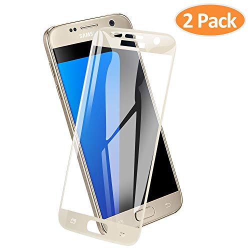 ICHECKEY Panzerglas Schutzfolie für Samsung Galaxy S7, 9H Härte Displayschutzfolie Anti-Kratzen, Anti-Öl, Anti-Bläschen, Ultra Transparenz Panzerglasfolie für Samsung Galaxy S7