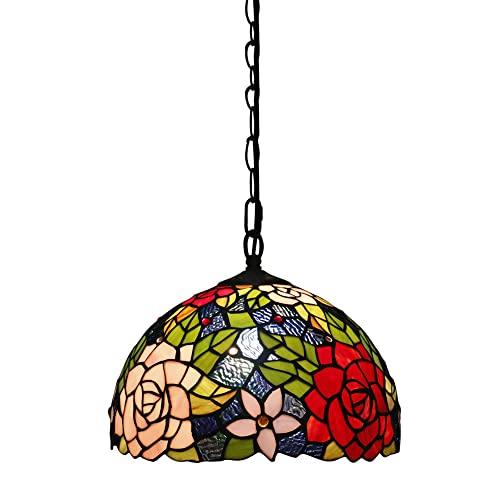 FAJOPQW Lámpara Colgante Retro Europea Color Lámpara De Cristal Rosa Lámpara De Techo Lámpara De Techo para Comedor Sala De Estar Escalera Pasillo Pasillo Estudio Lámparas Colgantes