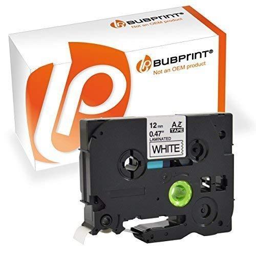 2 Bubprint Schriftbänder kompatibel für Brother TZE-231 für P-Touch 1000 1005 1010 1250 1280 1290 1290VP D200 D200BW D200BWVP D200VP D400 D400VP H100LB H101C H105 H105WB P700 900 Cube plus 12mm