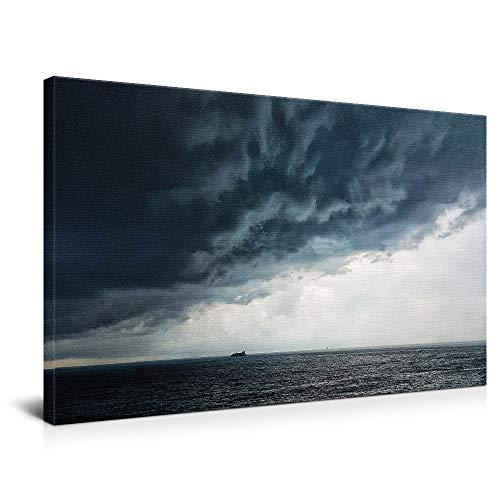 widnah La tormenta está llegando, arte de pared, cuadro decorativo, cuadros enmarcados para sala de estar y dormitorio. (enmarcados, 50 x 75 cm)
