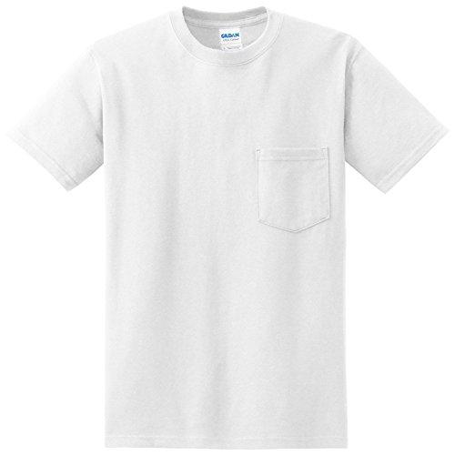 ギルダン GILDAN Tシャツ 米国ブランド 半袖 ポケット付き 6oz ヘビーウェイト サイズ S~2XL 2300 (L, ホワイト) [並行輸入品]